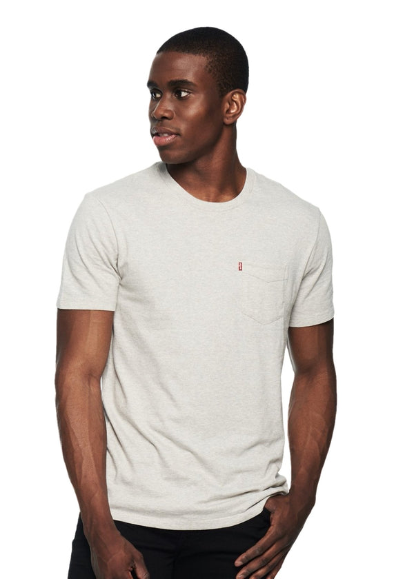 Levi's Small Sleeve Sunset Pocket Tee (Grey) - ChicStyle