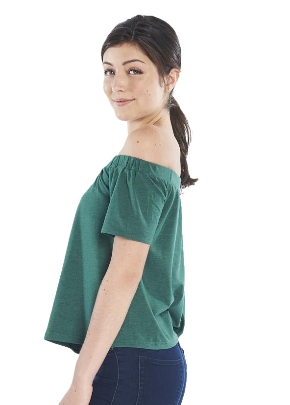 MINKPINK Off the Shoulder Tee (Tropical Teal) - ChicStyle