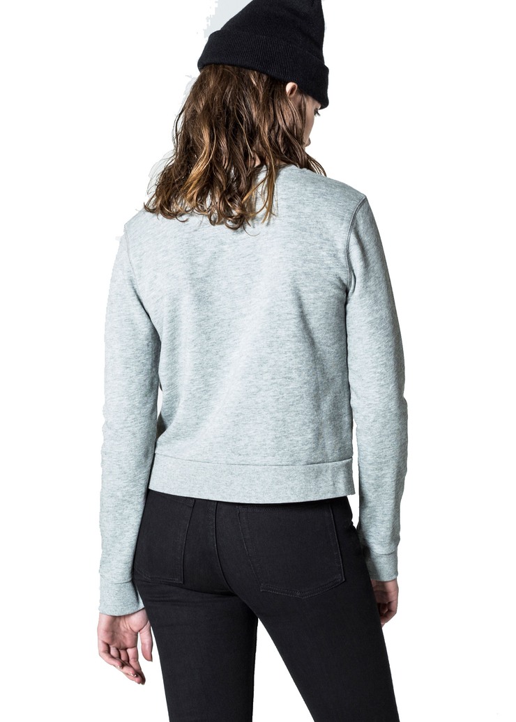 Cheap Monday Win Sweat (Grey Melange) - ChicStyle