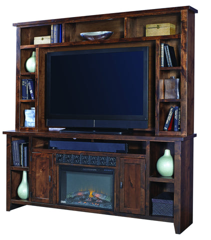 "Alder Grove 84"" Fireplace Console & Hutch"