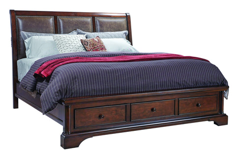 Bancroft Upholstered Sleigh Storage Bed