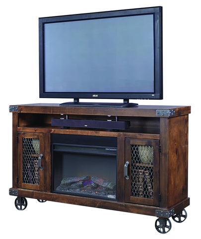 "Industrial 62"" Fireplace Console"
