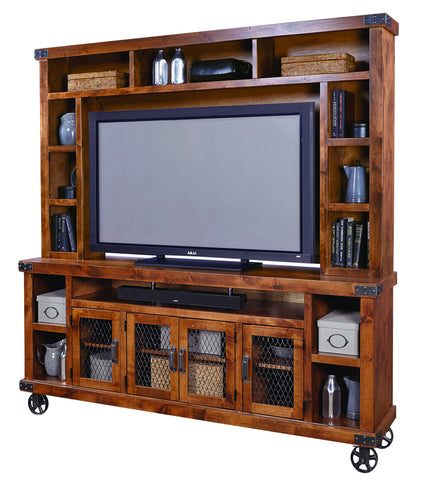 "Industrial 84"" Console & Hutch"