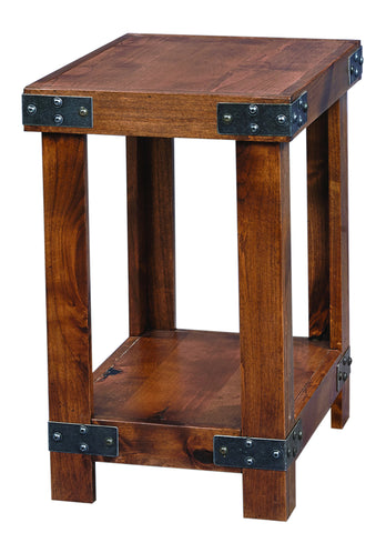 Industrial Chairside Table