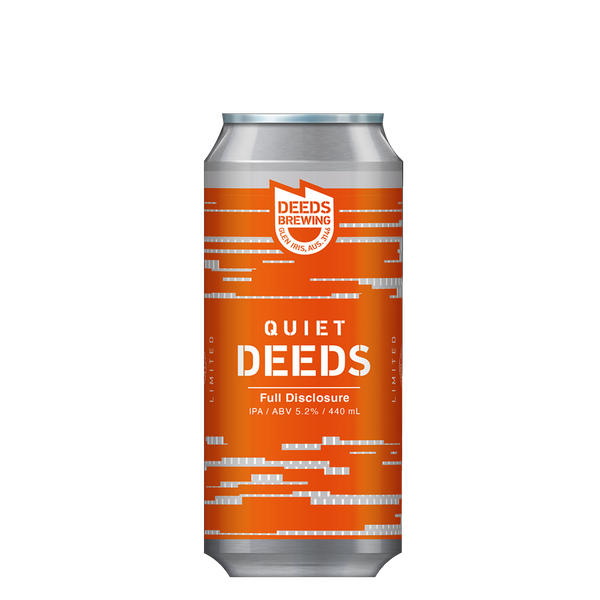 Deeds Full Disclosure Hazy Session IPA