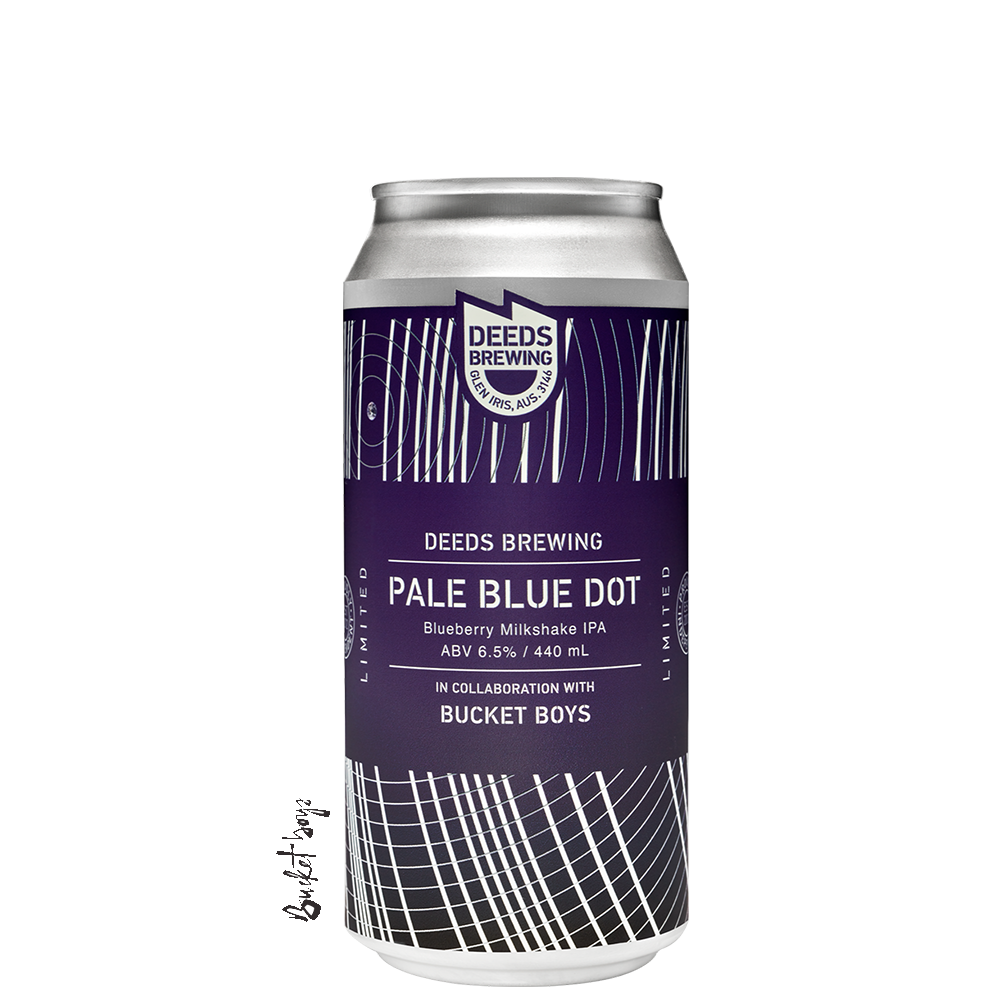Deeds / Bucket Boys Pale Blue Dot Blueberry Milkshake IPA