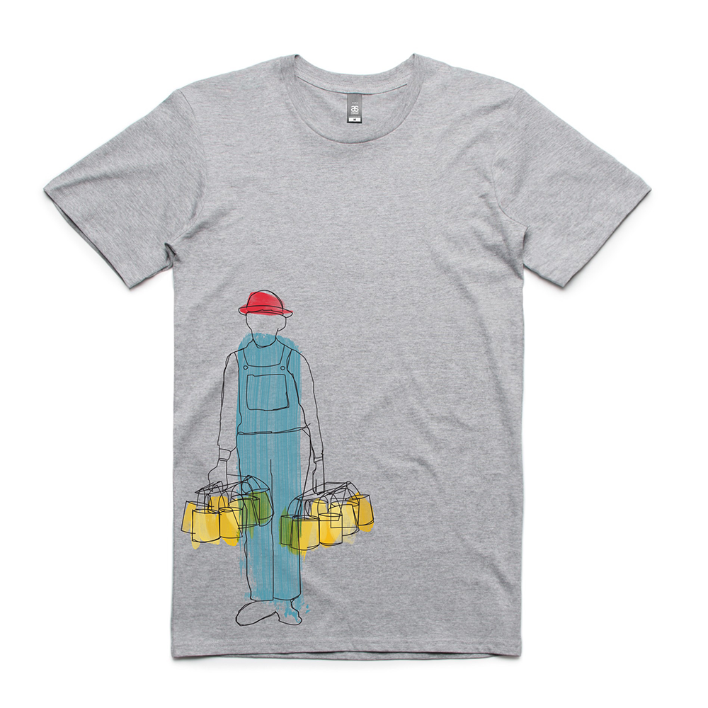 Bucket Boys Bucket Tee Grey Front