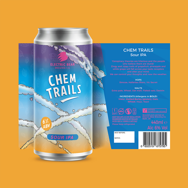 Electric Bear Chem Trails Sour IPA (440ml)