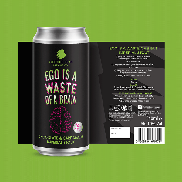 Electric Bear Ego Is A Waste Of A Brain Imperial Stout (440ml)