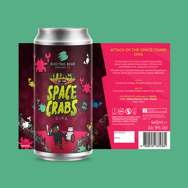 Electric Bear Attack Of The Space Crabs DIPA (440ml)