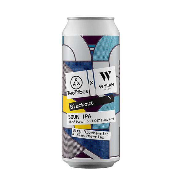 Two Tribes / Wylam Blackout - Blue & Blackberry Sour IPA (440ml)