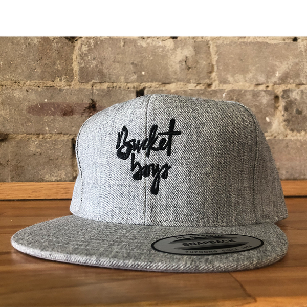 Bucket Boys Grey Snapback Hat