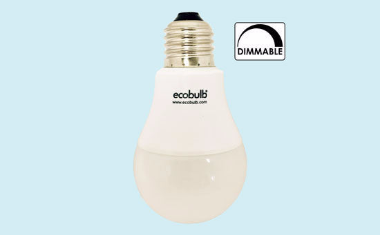 LED Light Bulb, Ecobulb Dimmable E27 9Watt Cool White, Downlight