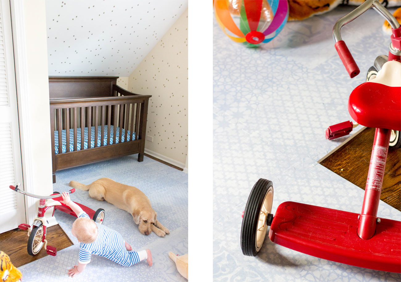 Little Nomad Cooper's Nursery Reveal Red Tricycle