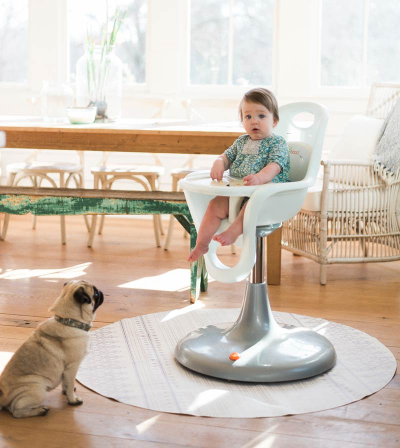 Highchair Mat with Pug