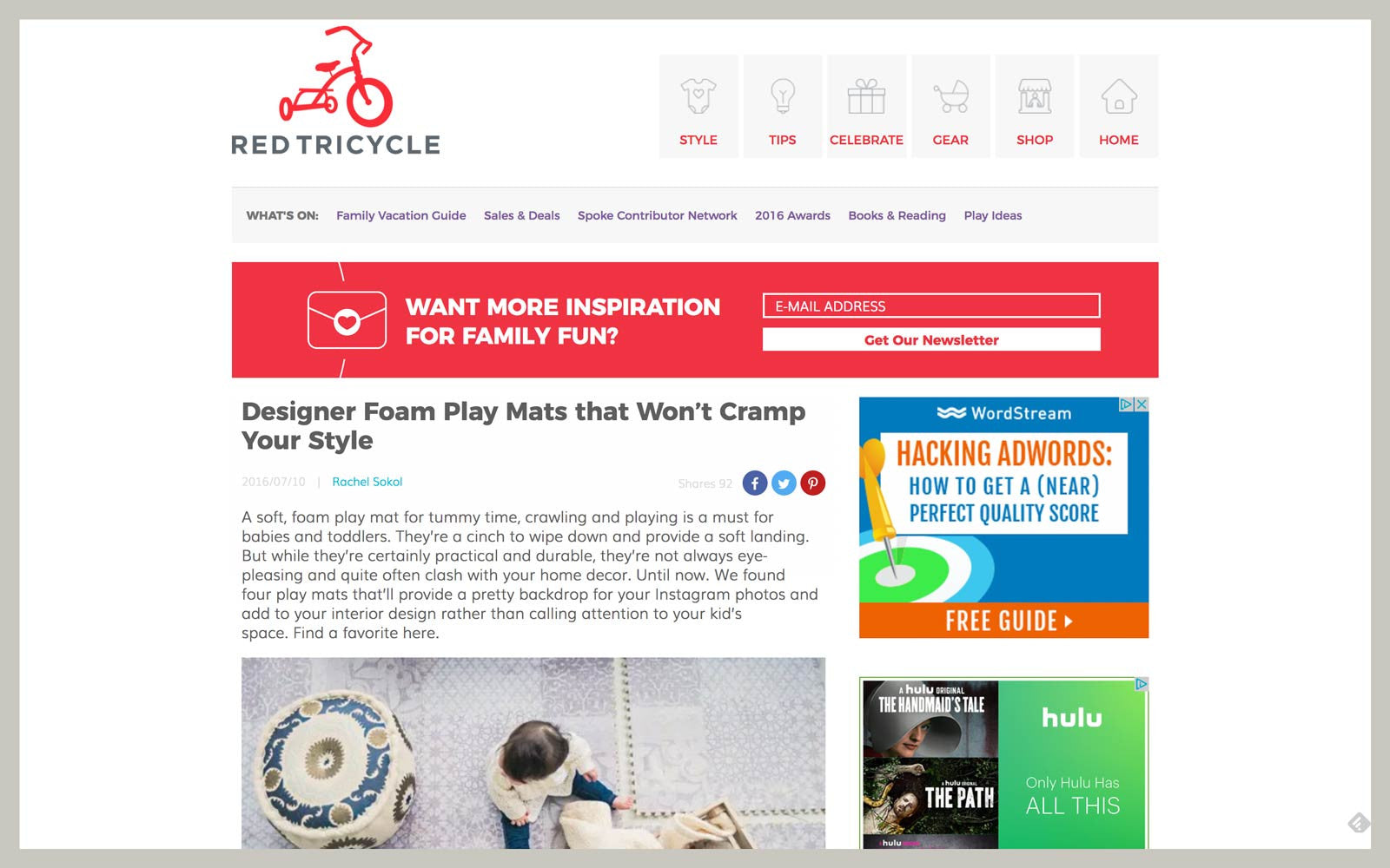 Little Nomad featured in Red Tricycle