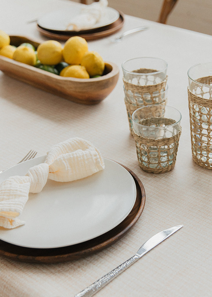 Holiday Table Setting with Everly Mat