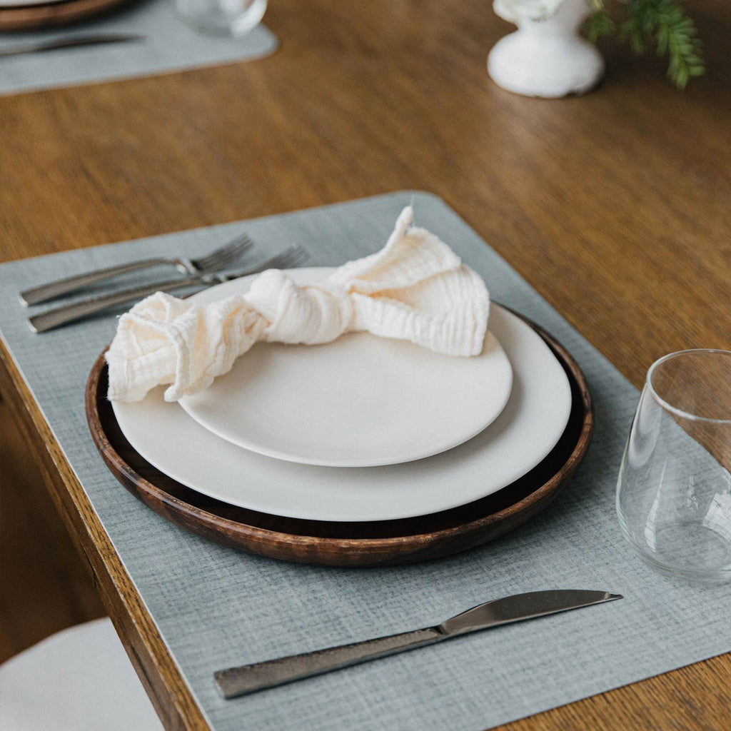 Paper Birch Placemat Table Setting