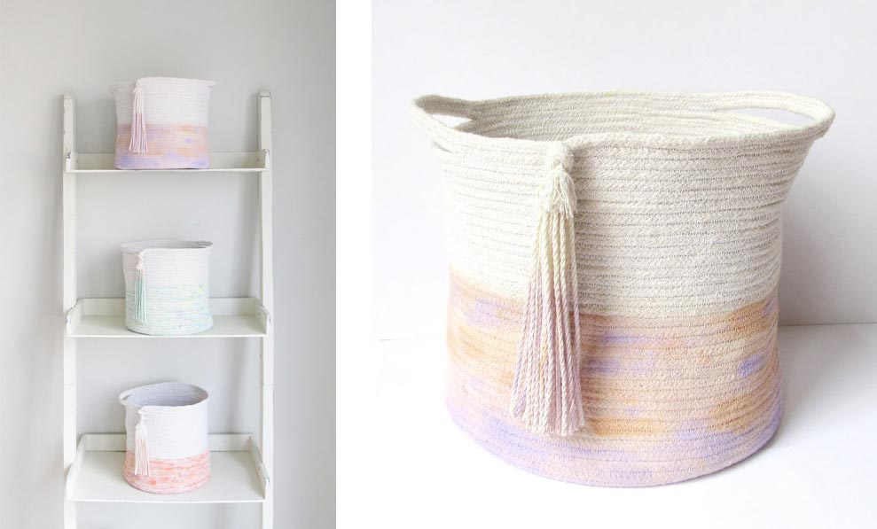 Twig and Tassel Basket and ladder