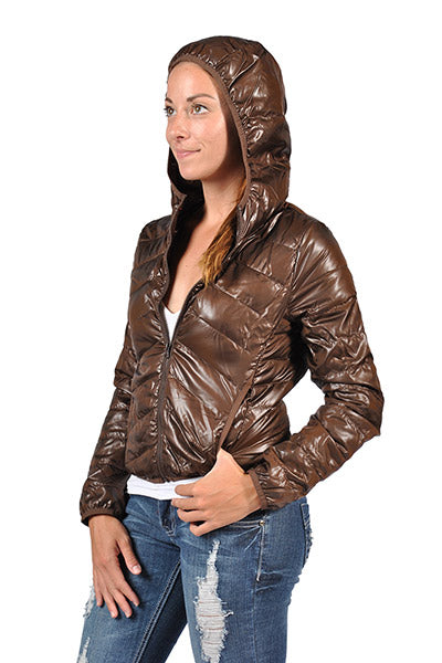 C'EST Toi Fashion Women's Quilted Hoddie Jacket