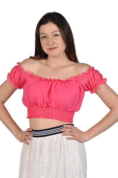 c7bc0463b5 Womens Short Sleeve Shirt Strapless Blouses Off Shoulder Tops Coral