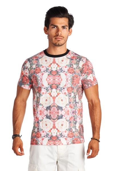 6b357cc4856269 21 Men Floral Crew Neck Short Sleeve Shirt Clothing Apparel · Forever21