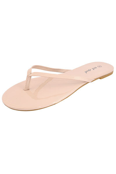 e4d08faad41a Wet Seal Womens High Fashion Faux Leather Flip Flops Gray Thong Sandals –  US Outlet