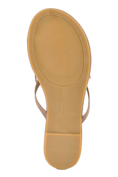 3fcdca27ca79c1 Wet Seal Womens High Fashion Faux Leather Flip Flops Taupe Thong ...