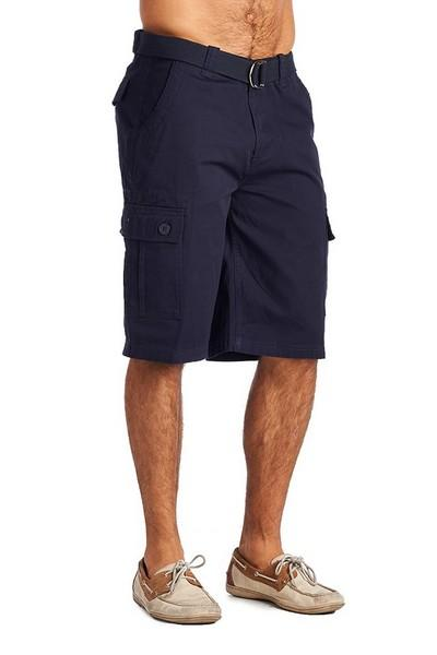 ed925c990e Mens Fashion 6 Pocket Cargo Shorts-Navy Clothing Apparel