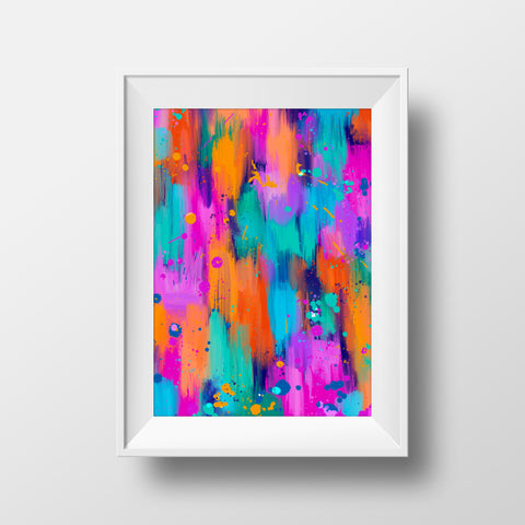"""Vibrant splash"" art print"