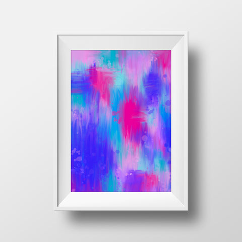 """Pinky blues"" art print"