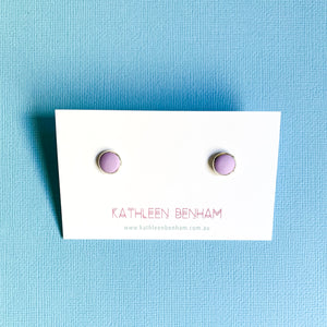 Polymer clay 8mm studs Lilac