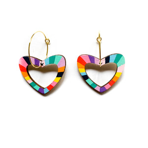 Loopy heart shaped hoop dangles #4