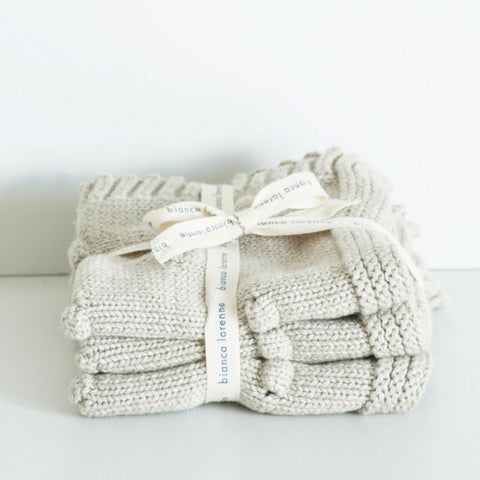 Cotton Washcloth Set - Fronzolo Oatmeal