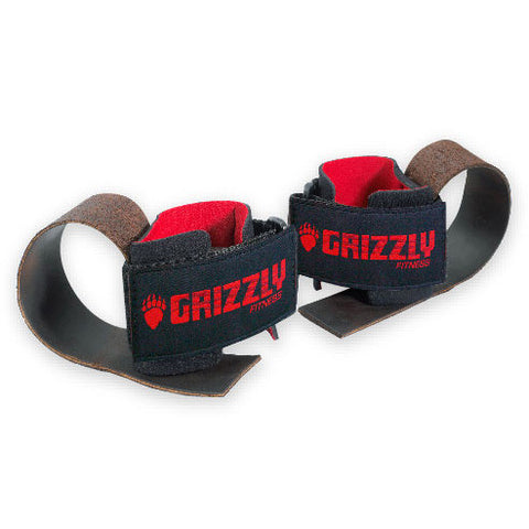 Grizzly Deluxe Leather Lifting Straps