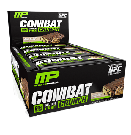 Muscle Pharm Combat Crunch Protein Bars - 12/63g Bars - Recomp Fitness and Nutrition