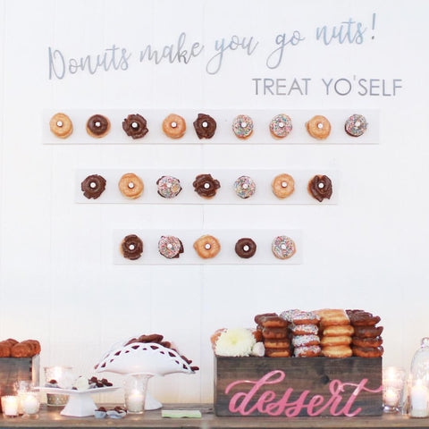 Cravory cookies + donut display at wedding