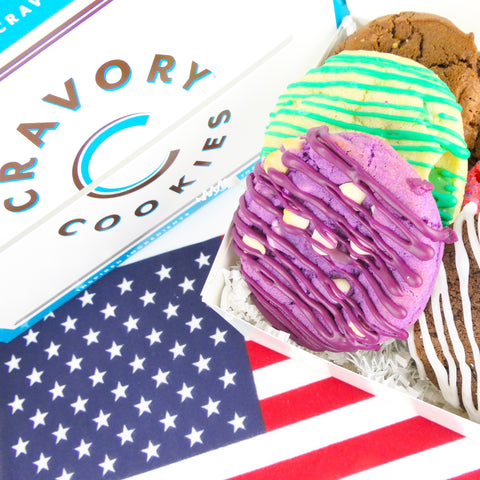 4th of july cravory cookies in box