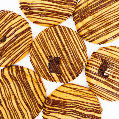 Dulce de Leche Cookies - Cookies with Chocolate Drizzle