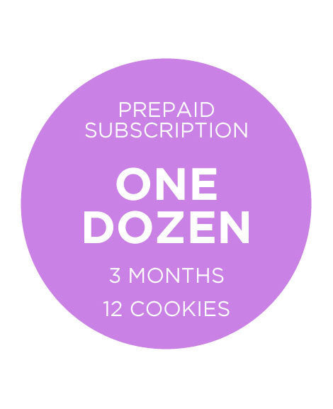 One Dozen Cookies -  Prepaid 3 Months Pricing is per Month Does not include shipping