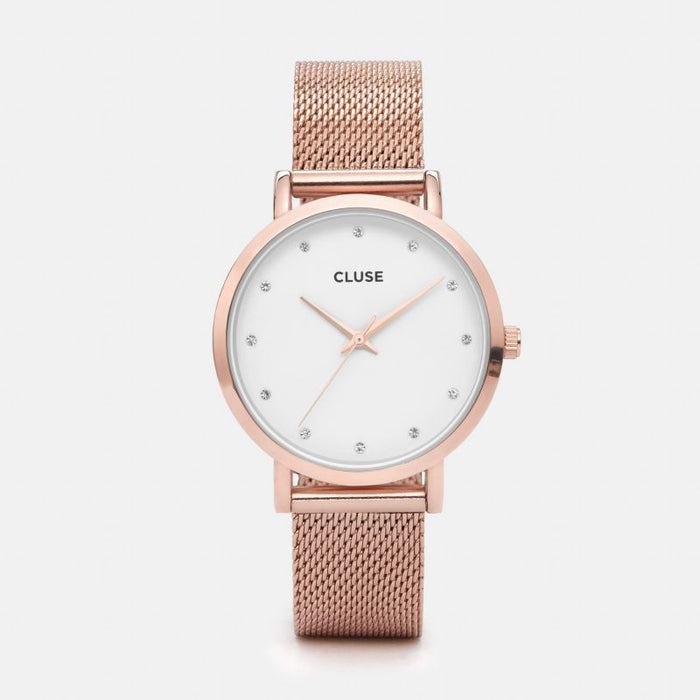 Cluse Pavane Rose Gold Stones Front