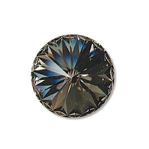 Swarovski Black Diamond 1122 Rivolis 20mm