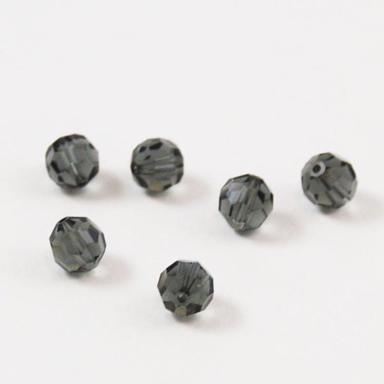 Swarovski 7mm Morion Crystal Beads 199