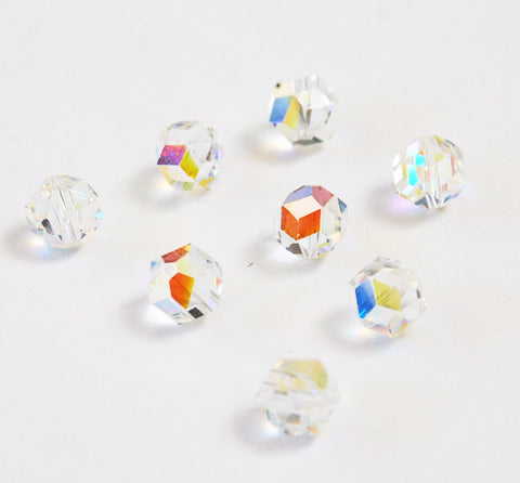 Swarovski 371/5007 Crystal AB Austrian Beads Discontinued