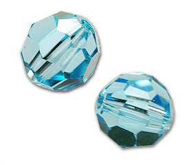 Swarovski 8mm Aquamarine Crystal Beads 5000