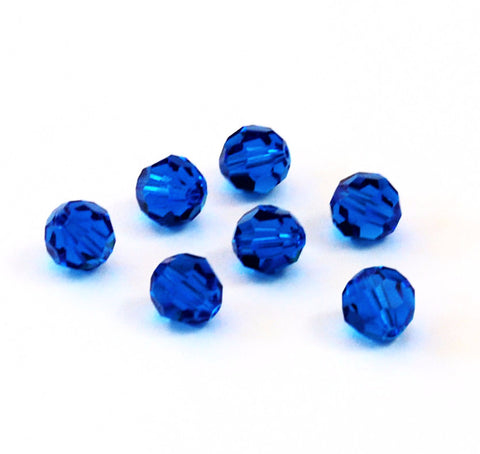 Swarovski 8mm Capri Blue Crystal Beads 5000