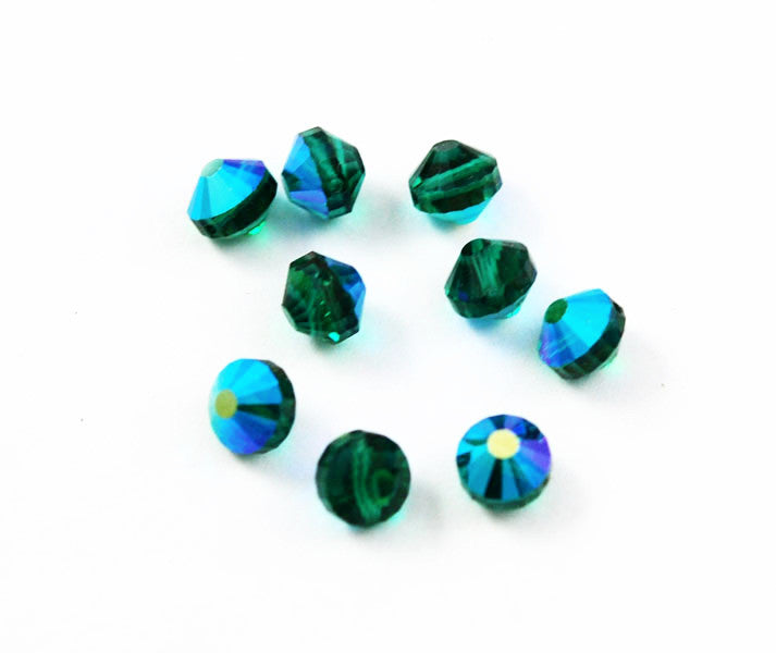 Swarovski crystals Art. 349/5101 8mm Emerald AB Beads
