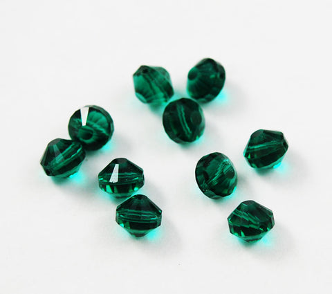 Swarovski crystals 5101 9mm Emerald Beads
