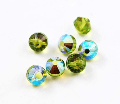 Swarovski crystals Art. 349/5101 10mm Light Olivine AB Beads
