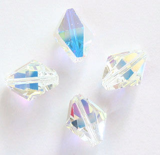 Swarovski 5121 Crystal AB Austrian Discontinued (6)  8.5 x 6.5mm